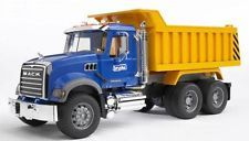 Bruder Mack Granite Dump Truck Vehicle Real Blue Toys Boys  NIB new in box
