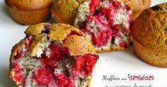 Recette de muffins aux framboises et aux graines de pavot : une recette rapide et originale ! Raspberry Muffins, Food Truck, Street Food, Quiche, Tart, Brunch, Pie, Baking, Breakfast