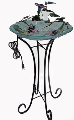 Continental Art Center Metal Butterfly and Flower Fountain Exclusive design : metal butterfly and flower fountain. Unit contains only fountain; Bowl and stand are NOT included. Lawn And Garden, Garden Art, Home And Garden, Terra Cotta Bird Bath, Diy Bird Bath, Indoor Fountain, Garden Items, Wall Plaques, Outdoor Gardens