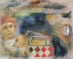 野田英夫《追憶》1935年、油彩、カンバス、38.1×45.7cm、横浜美術館