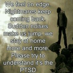 Eye Movement Desensitization and Reprocessing (EMDR) is a psychotherapy treatment. EMDR is designed to alleviate the distress associated with traumatic memories. EMDR is starting to gain popularity. Nightmare Quotes, Ptsd Quotes, Ptsd Awareness, Complex Ptsd, Mental And Emotional Health, Emotional Pain, Abuse Survivor, Post Traumatic, Stress Disorders