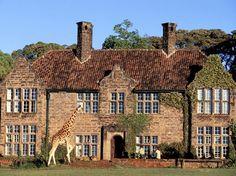The Giraffe Manor, a stunning Scottish hunting lodge ...
