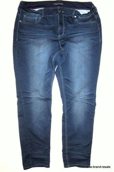 Womens 14-28 New Stretch Denim Blue Knee Length Shorts Turn Up Ladies Plus Size