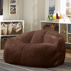 Cloud Couch - http://www.pbteen.com/products/sherpa-chocolate-cloud-couch/?pkey=e%7Ccloud%2Bcouch%7C5%7Cbest%7C0%7C1%7C24%7C%7C2_src=PRODUCTSEARCH||NoFacet-_-NoFacet-_-NoMerchRules-_-