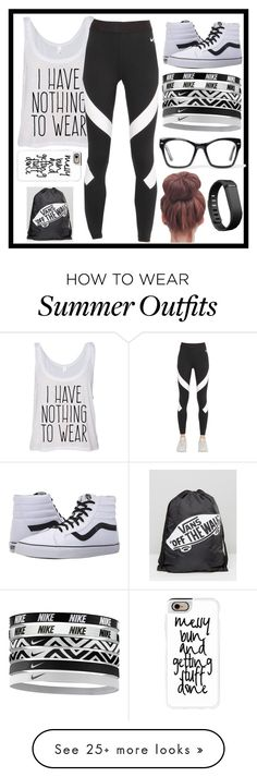 """""""Ready for anything"""" by malrocks2003 on Polyvore featuring NIKE, Vans, Casetify, Spitfire and Fitbit"""