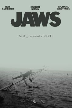 Jaws Film, Jaws Movie Poster, Old Movie Posters, Film Posters, Film Movie, Sci Fi Movies, Old Movies, Vintage Movies, Horror Movies