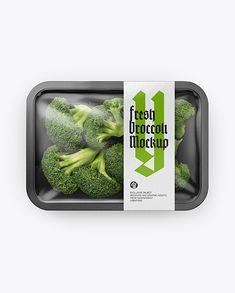 Plastic Tray With Broccoli Mockup. Contains special layers and smart objects for your amazing artworks. Vegetable Packaging, Spices Packaging, Organic Packaging, Food Packaging Design, Coffee Packaging, Bottle Packaging, Plastic Trays, Plastic Plastic, Disposable Tableware