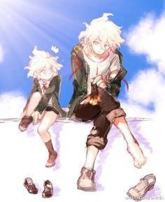 Omg Komaeda and little Komaeda are SOO cute