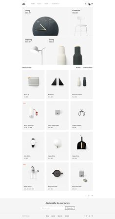 Modern Clean Shopping Website for Decor and Furniture. - Modern Clean Shopping Website for Decor and Furniture. Interior Design Website, Website Design Layout, Web Layout, Design Layouts, Website Designs, Website Ideas, Minimalist Web Design, Flat Web Design, Ecommerce Web Design