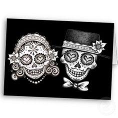 Los Novios - Day of the Dead Cards card