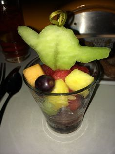 Fresh fruit from Sci-Fi Dine In during the Star Wars Weekends Character Breakfast Dairy Free Options, Dairy Free Recipes, Star Wars Food, Star Wars Characters, World Star, Fresh Fruit, Glutenfree, Free Food, Walt Disney