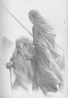 Legolas and an aged Gimli arrive in the Undying Lands.