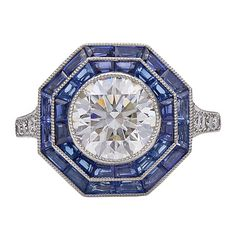 Vintage #engagementring by @tiffanyandco with #sapphires and #diamonds in platinum,