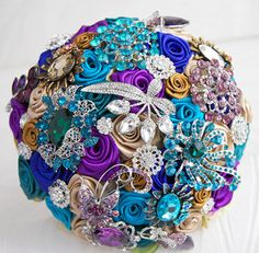 Handmade wedding flower brooch bead holding flowers multicolor free shipping