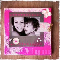 Lienzo scrap regalo para el día de la madre