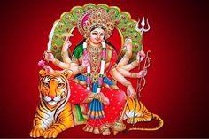 "Goddess Durga is a divine female god of Hindu deities. She is most worshipped goddess Maa Durga Images in Hindu religion. Hindu deities referred her as ""Maa Durga"". Goddess Durga is known for killing Mahishasur Durga Picture, Maa Durga Photo, Maa Durga Image, Durga Maa, Durga Goddess, Kali Hindu, Happy Navratri Status, Happy Navratri Images, Navratri Songs"