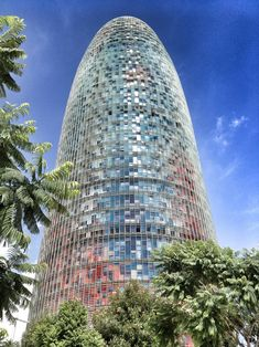 The amazing and well known Agbar tower of Barcelona by Jean Novel | De futuristische Agbartoren aan de Plaça de les Glòries met een adembenemend zicht op Barcelona