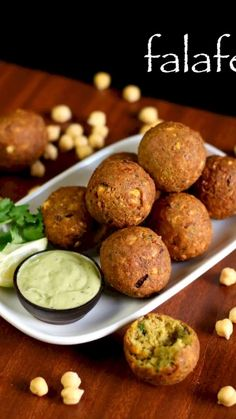 easy falafel recipe, how to make falafel with step by step photo/video. traditional middle east or arab delicacy from chickpea batter served with hummus. Veg Recipes, Spicy Recipes, Kitchen Recipes, Indian Food Recipes, Cooking Recipes, Healthy Recipes, Indian Snacks, Bread Recipes, Cake Recipes