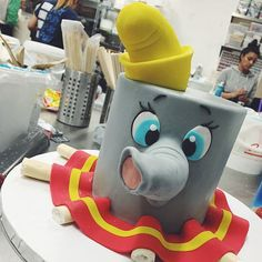 Dumbo Cake #kyongs_cakesncrafts Dumbo Birthday Party, Carnival Birthday Parties, Baby Boy Birthday, Disney Birthday, Circus Party, Dumbo Baby Shower, Baby Shower Cakes, Dumbo Cake, Circus Cakes