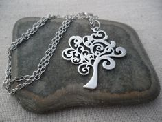 Whimsical Silver Tree Pendant  Tree of Life by TigerFlowerJewelry, $22.00