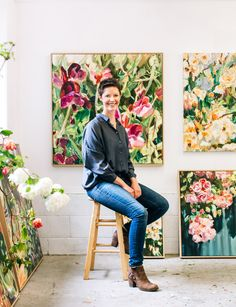 Painter Katherine Throne studied painting on a whim, but it is hard work and determination that have built her burgeoning career