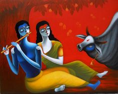 Artist Santosh Chattopadhyay's Rhythm Of Love V Painting Online. White acrylic Painting by Santosh Chattopadhyay on Canvas, Figurative based on theme Santosh Gallery. Indian Art Gallery, Indian Artwork, Indian Paintings, Modern Art Paintings, Original Paintings, Art Indien, Figure Painting, Couple Painting, Painting Canvas