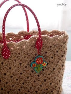 """New Cheap Bags. The location where building and construction meets style, beaded crochet is the act of using beads to decorate crocheted products. """"Crochet"""" is derived fro Crochet Handbags, Crochet Purses, Knit Or Crochet, Crochet Crafts, Crochet Hooks, Crochet Projects, Crochet Bags, Knitted Bags, Crochet Accessories"""