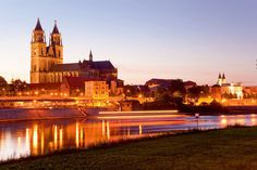 Visit the city of Magdeburg, where Martin Luther attended boarding school as a teenager. Later in life, Luther returned to Magdeburg to preach, thus making the city a leader in the Reformation. Luther, Magdeburger Dom, My Town, Germany Travel, Beautiful Places, Around The Worlds, Europe, Mansions, House Styles