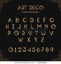 Find Art Deco Creative Font Creative Template stock images in HD and millions of other royalty-free stock photos, illustrations and vectors in the Shutterstock collection. Thousands of new, high-quality pictures added every day. Art Deco Logo, Deco Font, Arte Art Deco, Makeup Black, Art Projects For Adults, Creative Fonts, Budget Template, Art Gallery, Letter Art