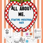 My 'All about me - starting preschool pack' is designed for preschool children. It consists of 6 fun workbooks, three games and three posters to pu...