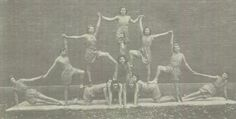 """The 1932 Girls Physical Education class in the """"Oracle"""" yearbook of Delphi high school in Delphi, Indiana.  #1932 #Delphi #Oracle #yearbook"""