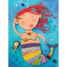 Oopsy Daisy Mermaid Treasures Canvas Art