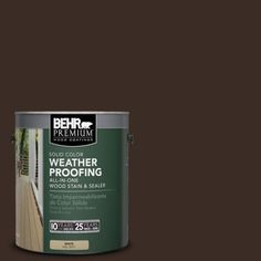 BEHR Premium 1 gal. #SC-103 Coffee Solid Color Weatherproofing All-In-One Wood Stain and Sealer-501301 - The Home Depot