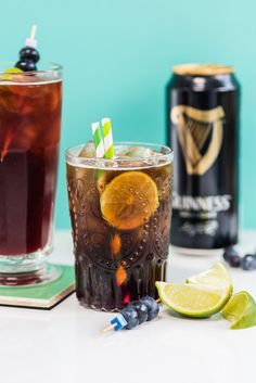 Celebrate St. Patrick's Day with a Guinness Dark and Stormy cocktail.