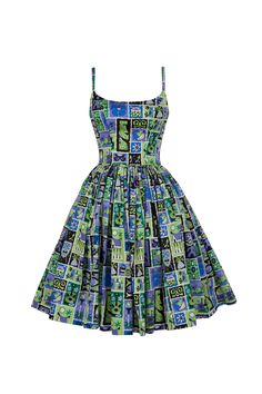 Pinup Couture Jenny Dress in Tiki Tiles Print - Coming Soon - New | Pinup Girl Clothing
