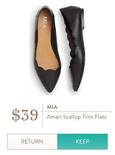 MIA Amari Scallop Trim Flats from Stitch Fix. https://www.stitchfix.com/referral/4292370