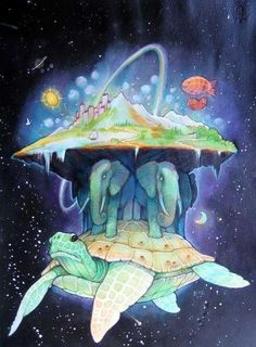 Turtle city #visionaryart #art #beautiful #visual #trippy #psychedelic #sacred