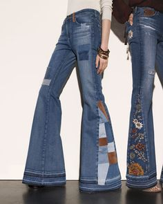 Bell bottoms, these were popular in the 70s and they're selling them again