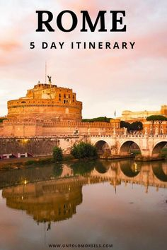 Read our guide to all the things to do in Rome over 5 days. All the highlights - Colosseum, Vatican, Trevi Fountain plus where to stay in Rome and best gelato in Rome Italy Travel Tips, Rome Travel, Travel Europe, Vatican Tours, Rome Itinerary, Things To Do In Italy, Rome Italy, Verona Italy, Travel