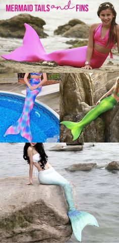 Mermaid tails and mermaid fins for the pool and beach