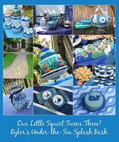 Party food ideas for an Under the Sea or Whale Party