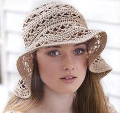 Fancy Beige Hat free crochet graph pattern