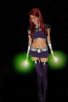 pinkpuffball: Starfire Cosplay I I can't believe I haven't posted this here yet, my first shot of my starfire cosplay!!!! Starfire/Edit: Henna Cosplay Photo: MHunt Facebook | deviantArt | Twitter | Tumblr|