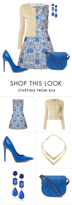 """""""Printed Jacquard dress"""" by sherlynd ❤ liked on Polyvore featuring мода, Alice + Olivia, Dolce&Gabbana, Fortuni, Kate Spade, Vince, women's clothing, women, female и woman"""