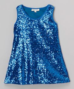 Love this Blue Sequin Shift Dress - Infant, Toddler & Girls on #zulily! #zulilyfinds