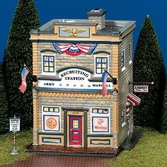 """Department 56: Products - """"Armed Forces Recruiting Station"""" - View Lighted Buildings   I WANT ONE OF THESE!!!!!!!"""