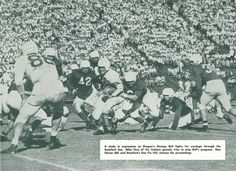 1948 Oregon-Stanford football game in Palo Alto. From the 1949 Oregana (University of Oregon yearbook). www.CampusAttic.com