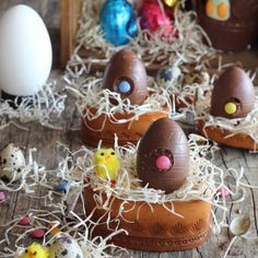 Eggs filled chocolate mousse nutella - Easter desserts (in Spanish)