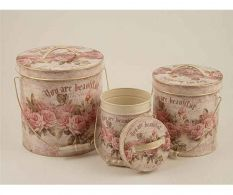 Set 3 galetuse cu capac Roses