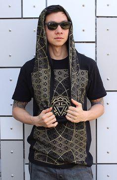 5314df4f3b4e3 SHIRT + SCARF - Vitality Infinity Scarf - Bamboo + Organic Cotton - Sacred  Geometry Shirt